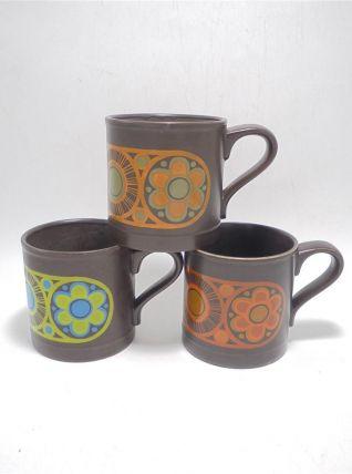 Trio de mugs vintage