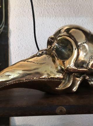 Sculpture en bronze mi homme mi oiseau