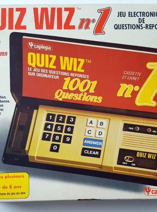QUIZ WIZ n°1 vintage jeu électronique