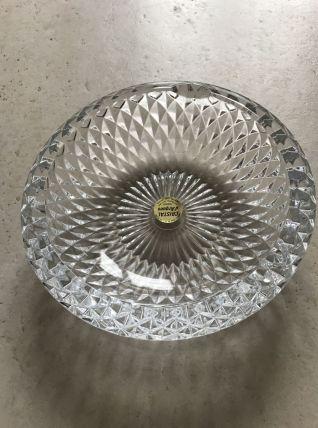 Cendrier/vide poche cristal d'arques