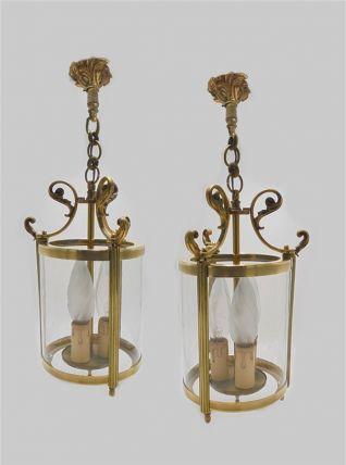 Paire de lanternes de vestibule