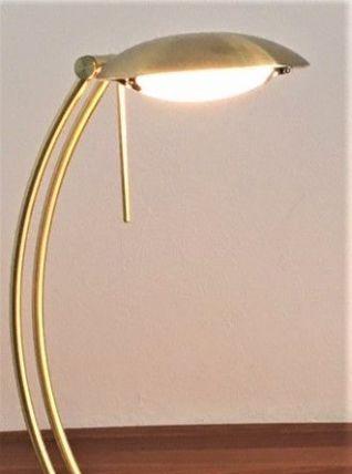Lampe bureau  laiton doré style Bauhaus , 1970