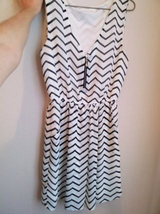 robe à rayures chevron