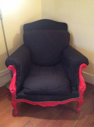 fauteuil et repose pieds