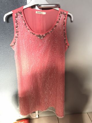 Robe rose et argent