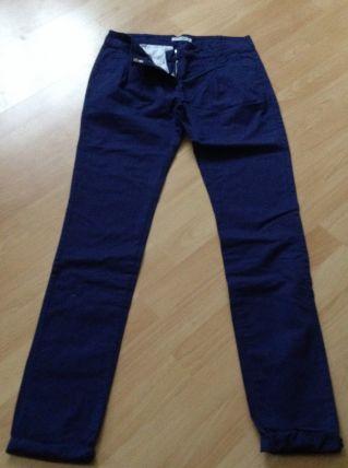 Pantalon bleu en toile