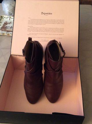"""Boots pour femme marron (pointure 40)""""Repetto"""