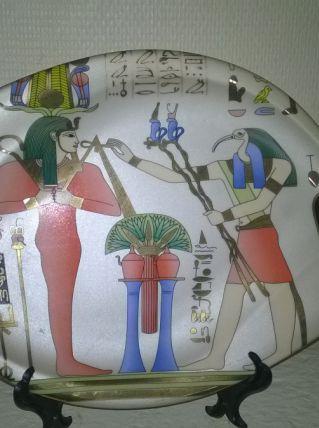 assiette égyptienne