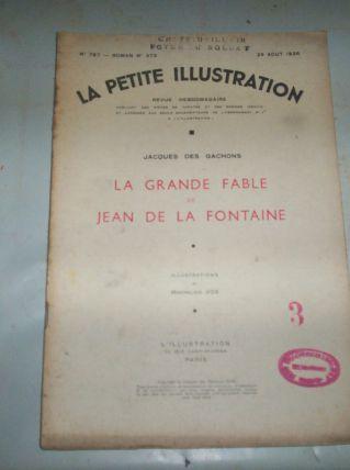 LA PETITE ILLUSTRATION la grande fable de jean de la fontaine de 1936