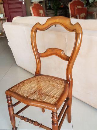 2 chaises a cannage, bois de hetre