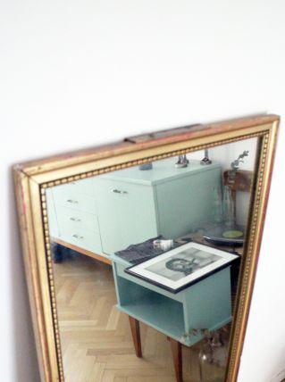 Grand miroir ancien à dorures années 60/70 vintage
