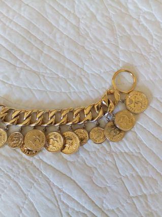 Bracelet fantaisie métal doré