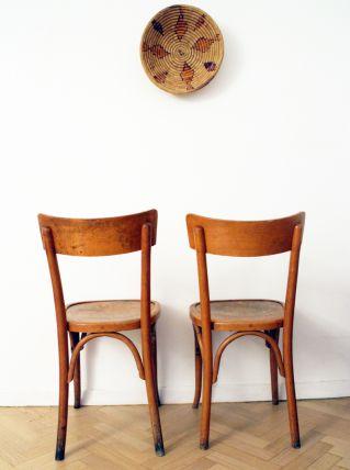 Paire de Chaises bistrot Baumann vintage années 50