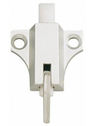Loqueteau pour châssis PVC - En aluminium anodisé argent