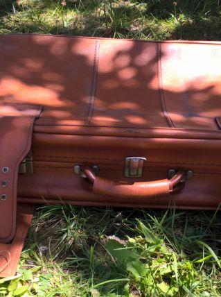 valise deco simili cuir