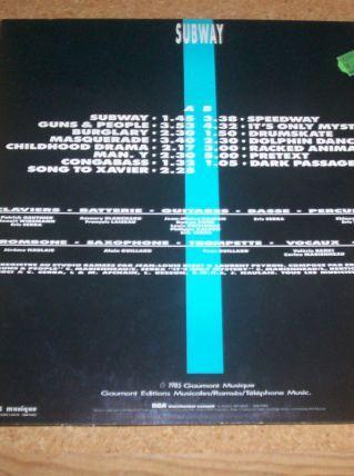 disque 33 tours B.O.FILM SUBWAY isabelle adjani christophe lambert