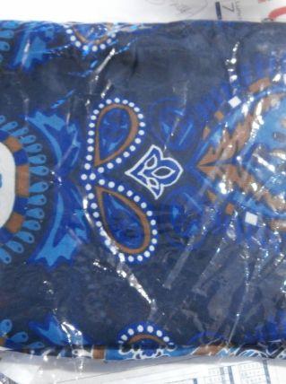 Mousseline de soie foulard, nappe, drap de plage, paréo rond