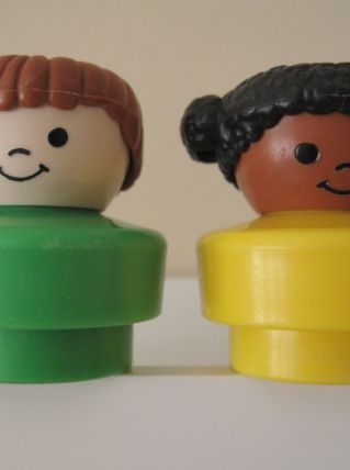 3 Little People Chunky  Fisher Price vintage