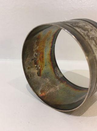 Rond de serviette métal argenté
