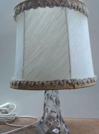 Lampe de chevet piètement en cristal
