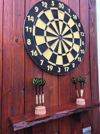 jeu de fléchettes avec cadre en bois