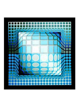 Héliogravure Victor Vasarely - Progression 3 - Editions de Griffon