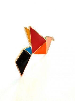 Pin's broche colombe origami