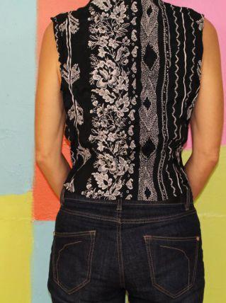 haut chemise sans manche bandanas T36-38 vintage