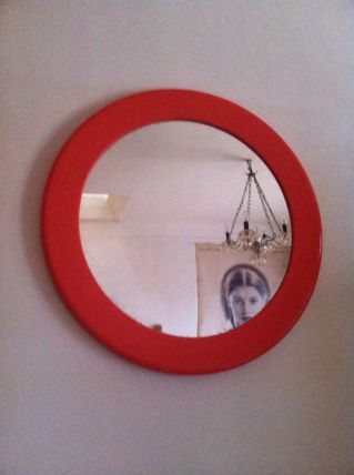 Miroir orange vintage Syla