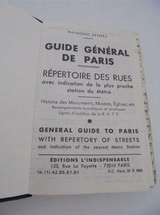 Plan de poche de Paris vintage