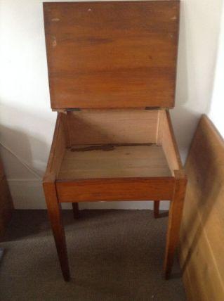 Pupitre écritoire en bois vintage