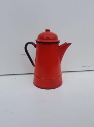 Cafetière émaillée rouge