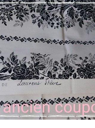 Ancien coupon de tissu ameublement