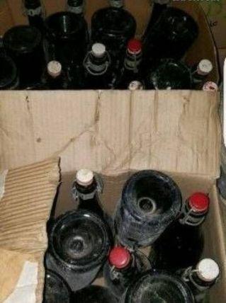 Lot d'ancienne bouteille de bière