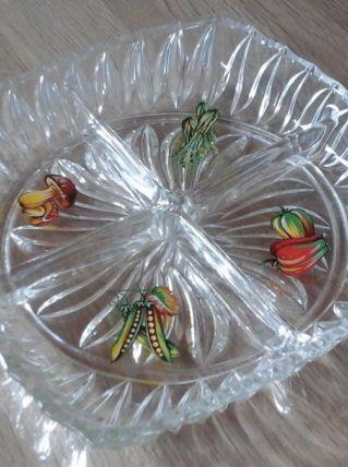Plat deservice en verre