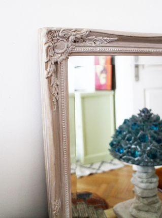 Miroir ancien gris de Naples annéés 50