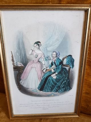 Ancienne gravure de mode