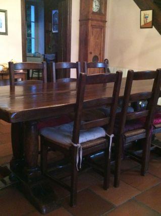 table de maison bourgeoise  en chêne