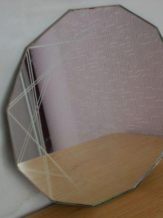 Miroir ancien gravé  art déco