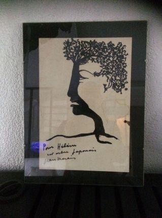 Deux dessins uniques signes Jean Marais