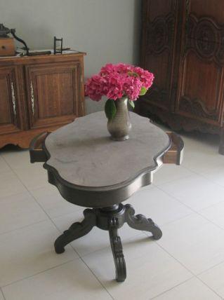 TABLE VIOLON A TIROIRS STYLE INDUSTRIEL