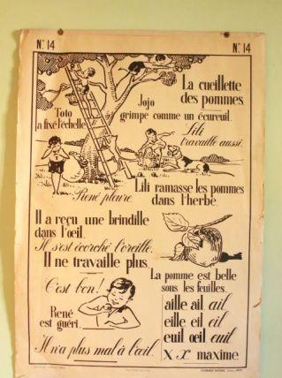 Affiche école vintage