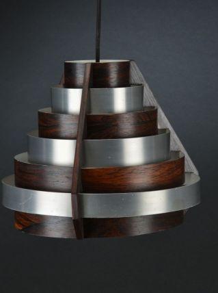 Suspension en métal et bois de rose