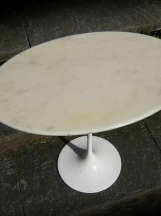 tables ovales Arabescato dessus marbre. Made in Italy