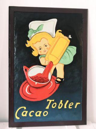 Tableau décoratif en bois sculpté Chocolat Tobler