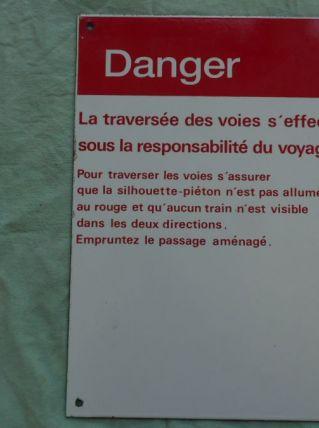 PLAQUE EMAILLEE SNCF