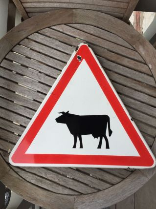 Panneau signalétique vache