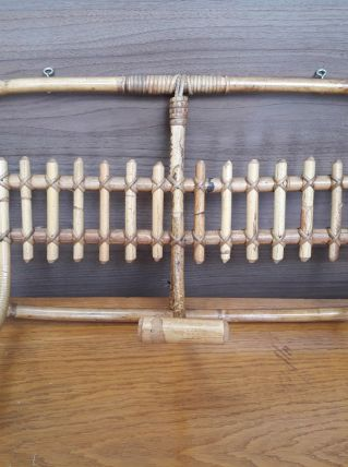 porte manteaux rotin  bambou 60s