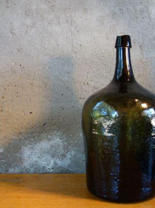 Grande bouteille marron verte 35 cm