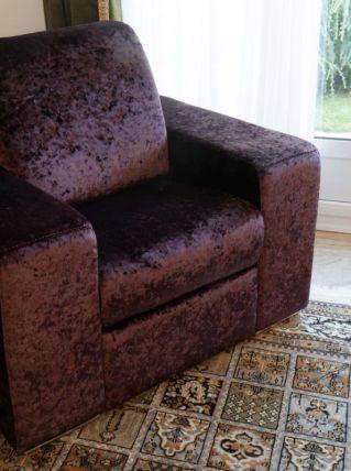 2 fauteuils avec têtière repliable